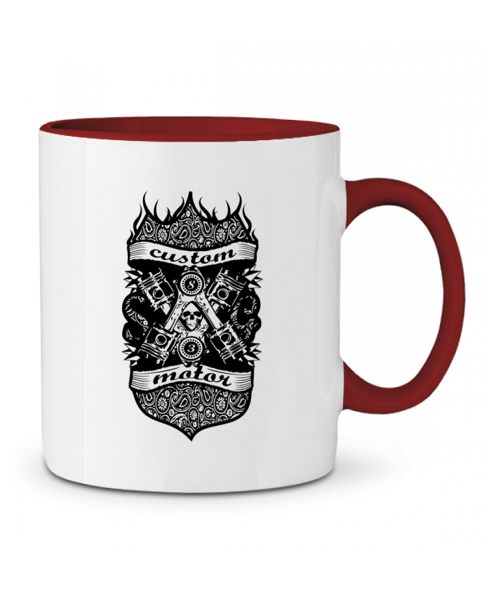 Mug en Céramique Bicolore CUSTOM MOTOR BOUTIQUE DU BARBU