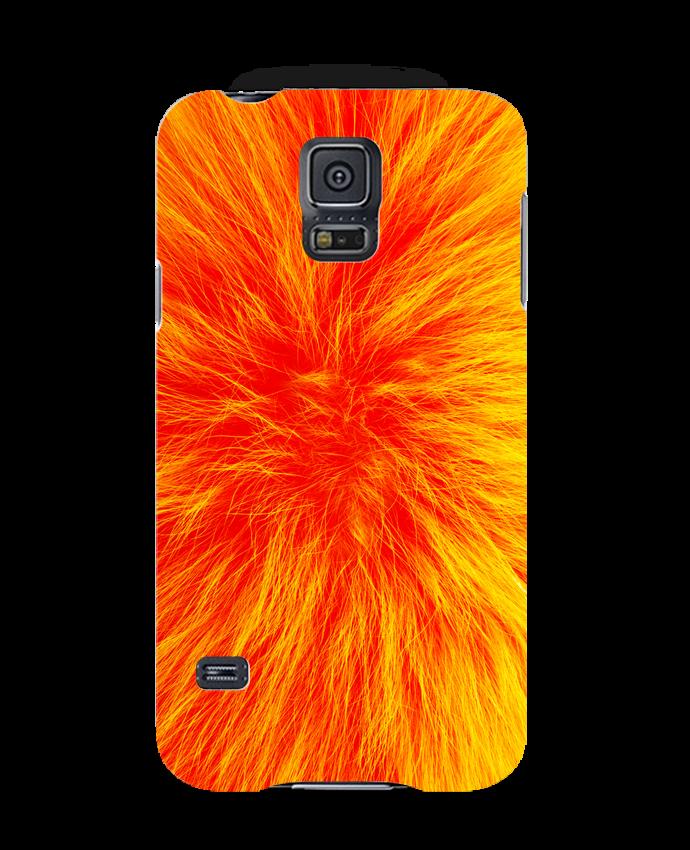Coque 3D Samsung Galaxy S5 Fourrure orange sanguine par Les Caprices de Filles