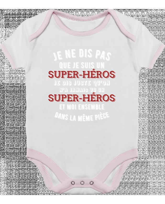 Body Bébé Contrasté Super-héro t-shirt cadeau humour par Original t-shirt 66a0d4f234c
