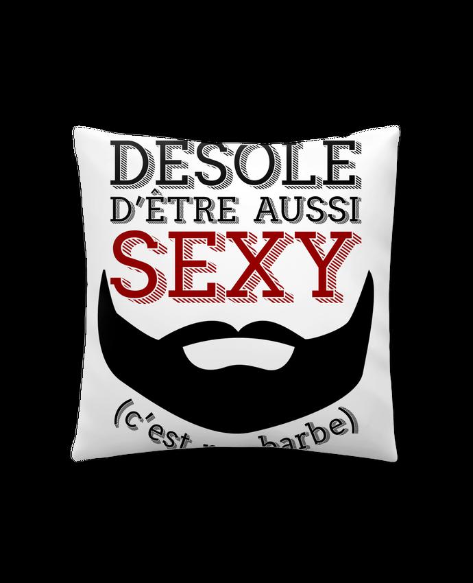 Coussin Synthétique Doux 41 x 41 cm Barbe sexy cadeau humour par Original t-shirt