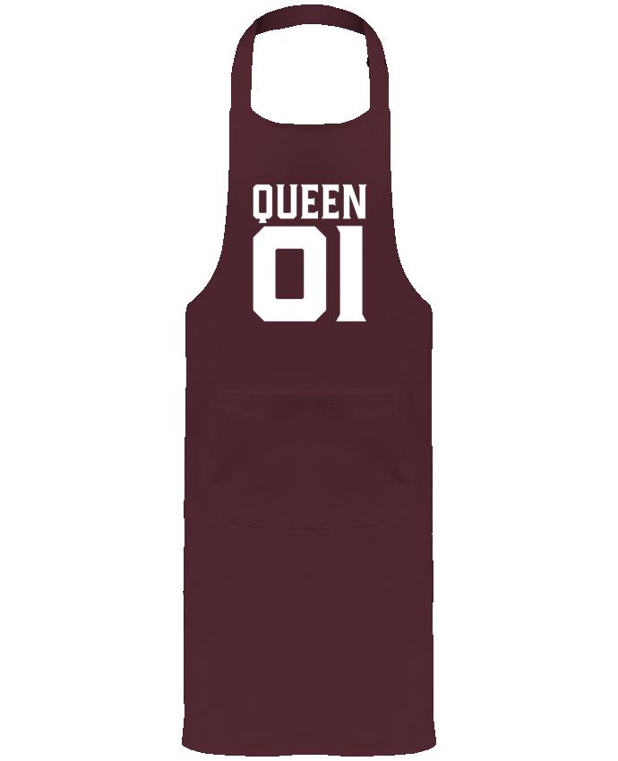 Tablier de Jardinier ou Sommelier avec Poche queen 01 t-shirt cadeau humour par Original t-shirt