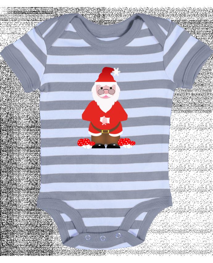 2f9b9b408e94b Body Bébé à Rayures Père Noël par Les Caprices de Filles