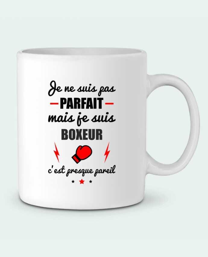 Mug en Céramique Je ne suis pas parfait mais je suis boxeur c'est presque pareil par Benichan