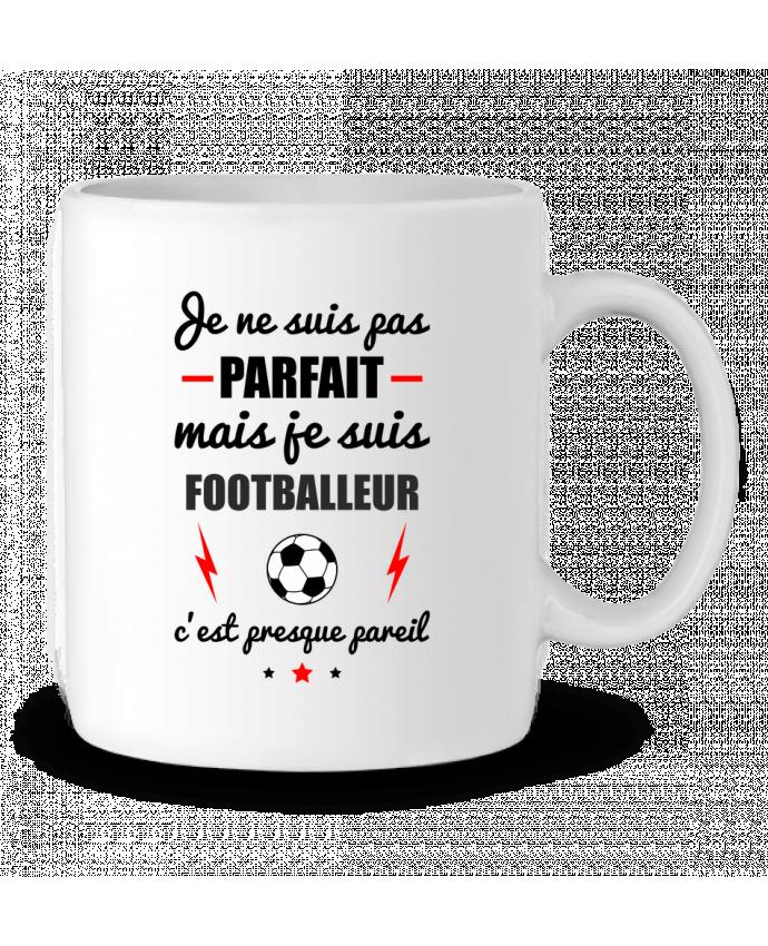 Mug en Céramique Je ne suis pas parfait mais je suis footballeur c'est presque pareil par Benichan