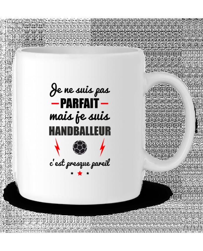 Mug en Céramique Je ne suis pas parfait mais je suis handballeur c'est presque pareil par Benichan