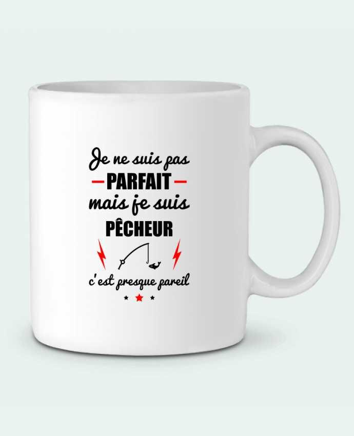 Mug en Céramique Je ne suis pas parfait mais je suis pêcheur c'est presque pareil par Benichan