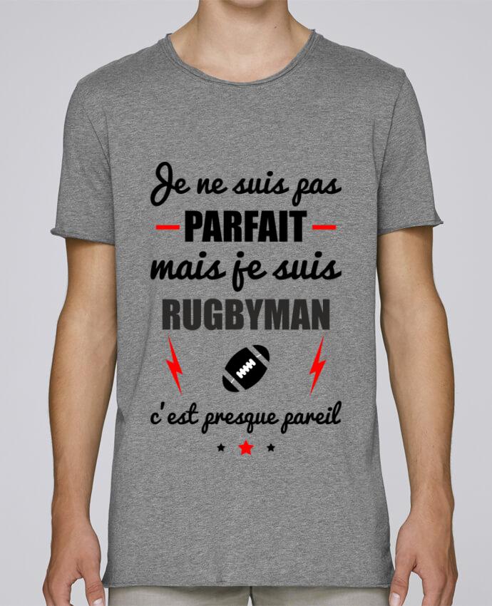 T-shirt Homme Oversized Stanley Skates Je ne suis pas parfait mais je suis rugbyman c'est presque pareil