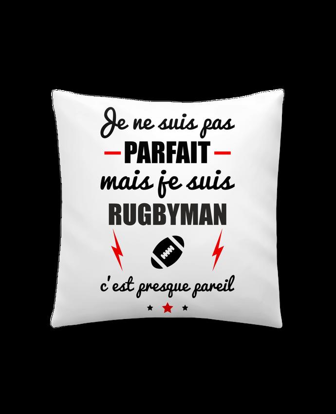 Coussin Synthétique Doux 41 x 41 cm Je ne suis pas parfait mais je suis rugbyman c'est presque pareil par Benichan