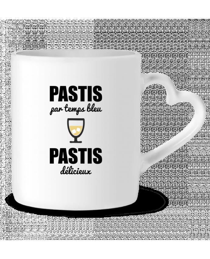 Mug Coeur Pastis par temps bleu pastis délicieux par Benichan