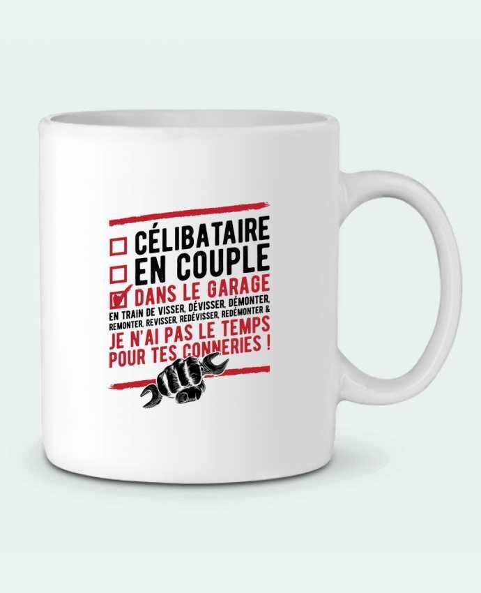 Mug en Céramique Dans le garage humour par Original t-shirt
