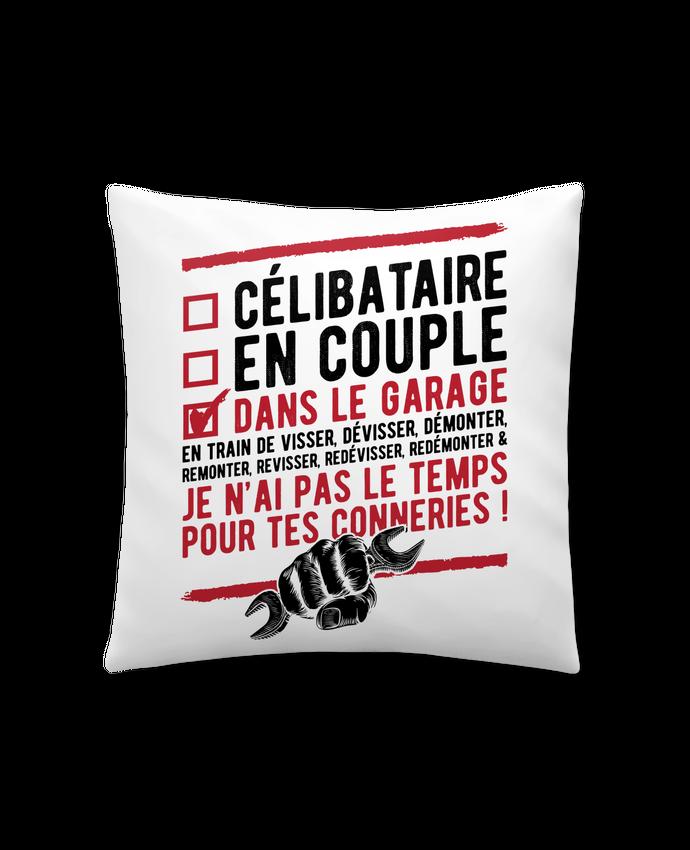 Coussin Synthétique Doux 41 x 41 cm Dans le garage humour par Original t-shirt