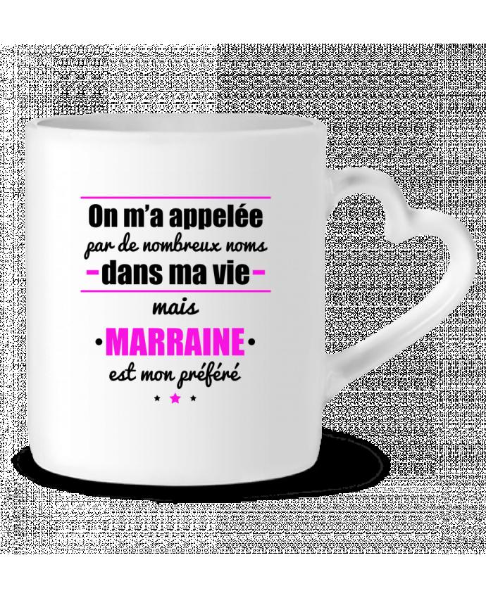 Mug Coeur On m'a appelé par de nombreux noms dans ma vie mais marraine est mon préféré par Benichan