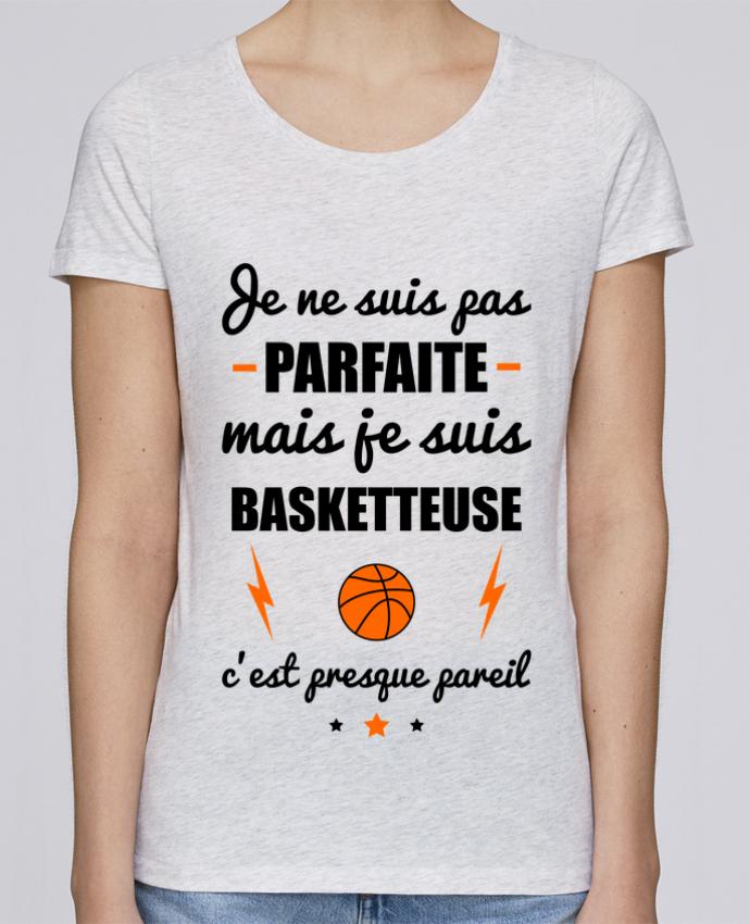 T-shirt Femme Stella Loves Je ne suis pas parfaite mais je suis basketteuse c'est presque pareil par Benichan