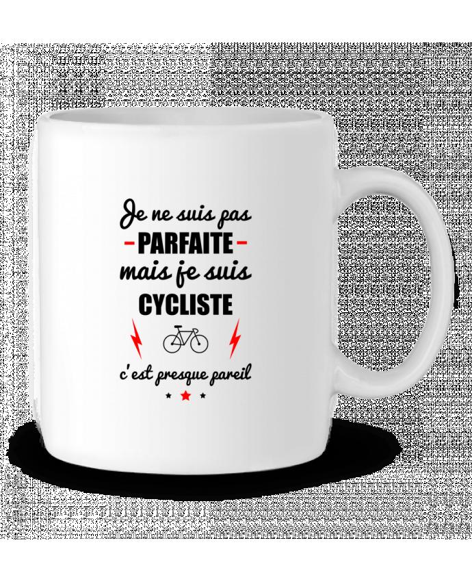 Mug en Céramique Je ne suis pas parfaite mais je suis cycliste c'est presque pareil par Benichan
