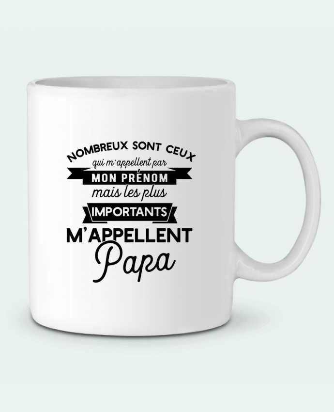 Mug en Céramique On m'appelle papa par Original t-shirt