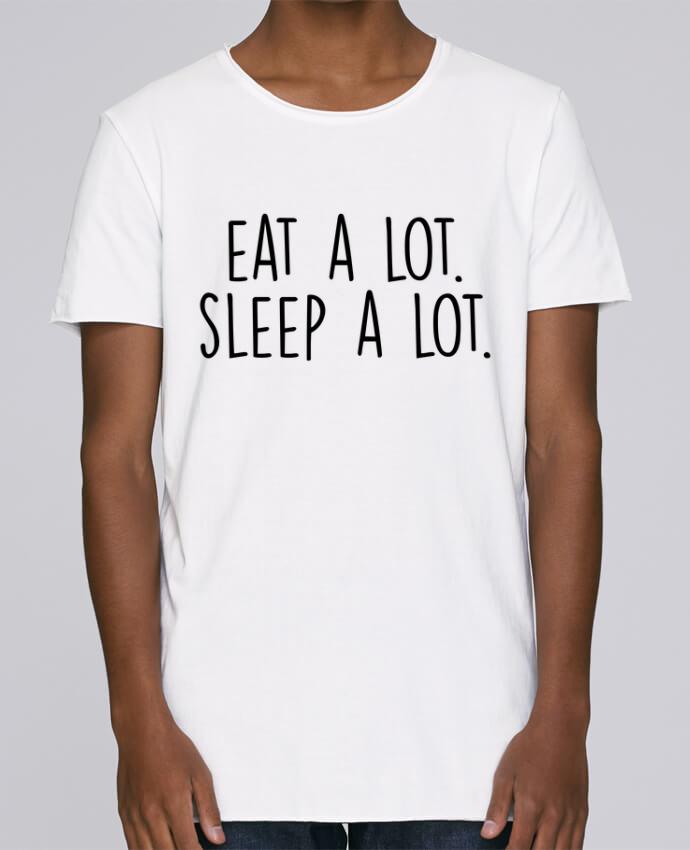 T-shirt Homme Oversized Stanley Skates Eat a lot. Sleep a lot. par Bichette