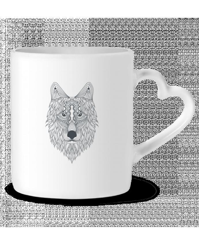 Mug Coeur Wolf par Bichette