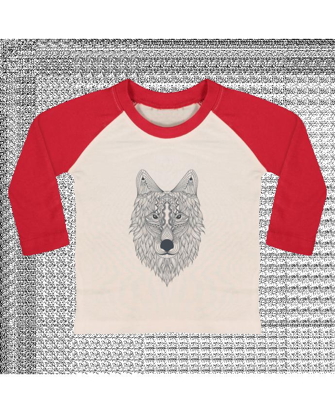 T-shirt Bébé Baseball Manches Longues Wolf par Bichette