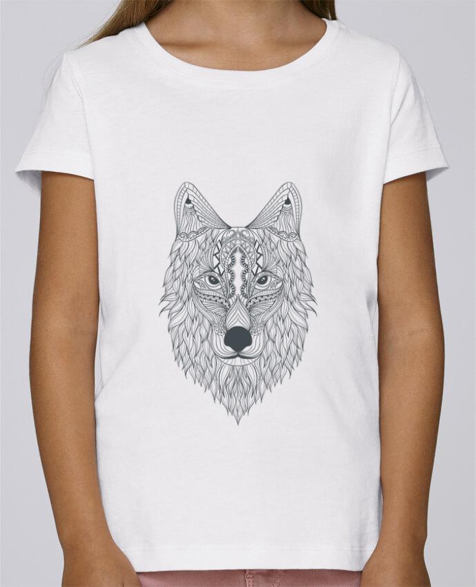 T-shirt Fille Mini Stella Draws Wolf par Bichette