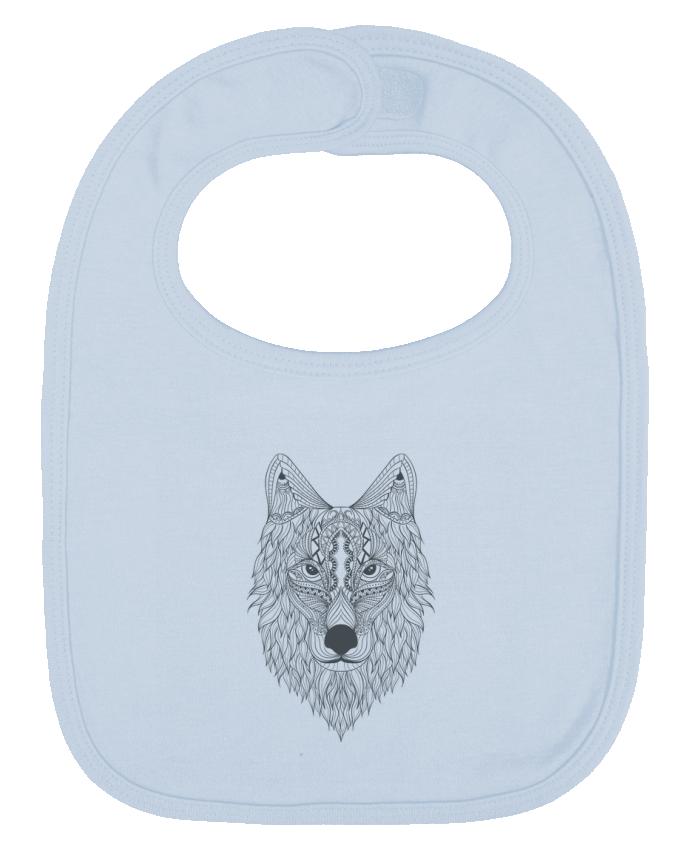 Bavoir Uni et Contrasté Wolf par Bichette