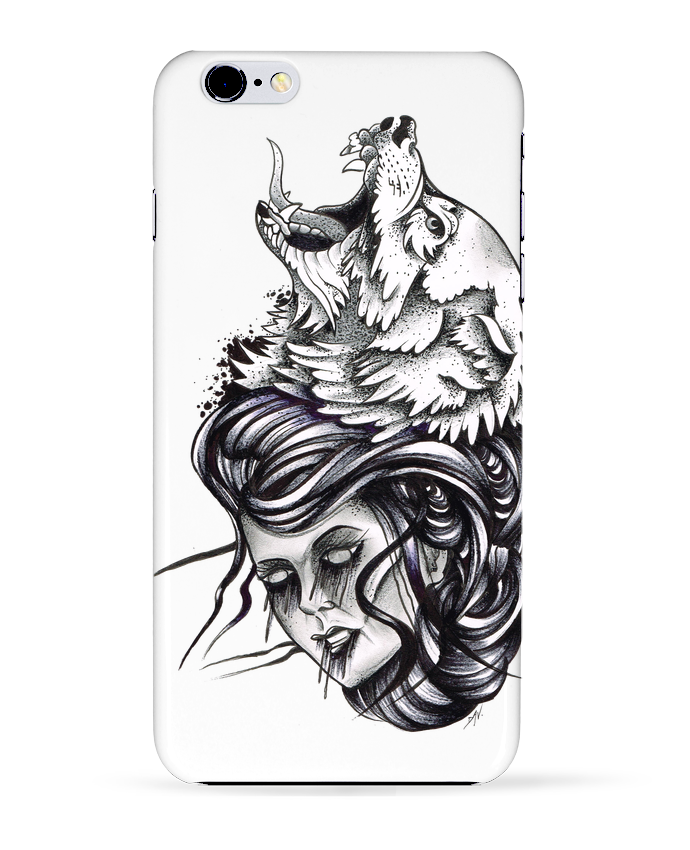 Coque 3D Iphone 6+ Femme & Loup de david