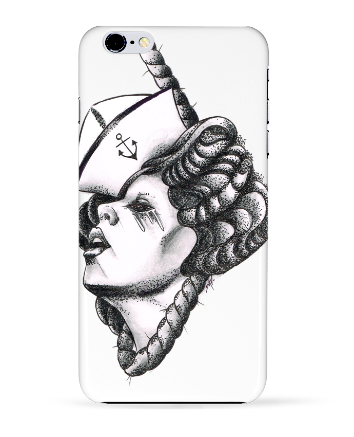 Coque 3D Iphone 6+ Femme capitaine de david