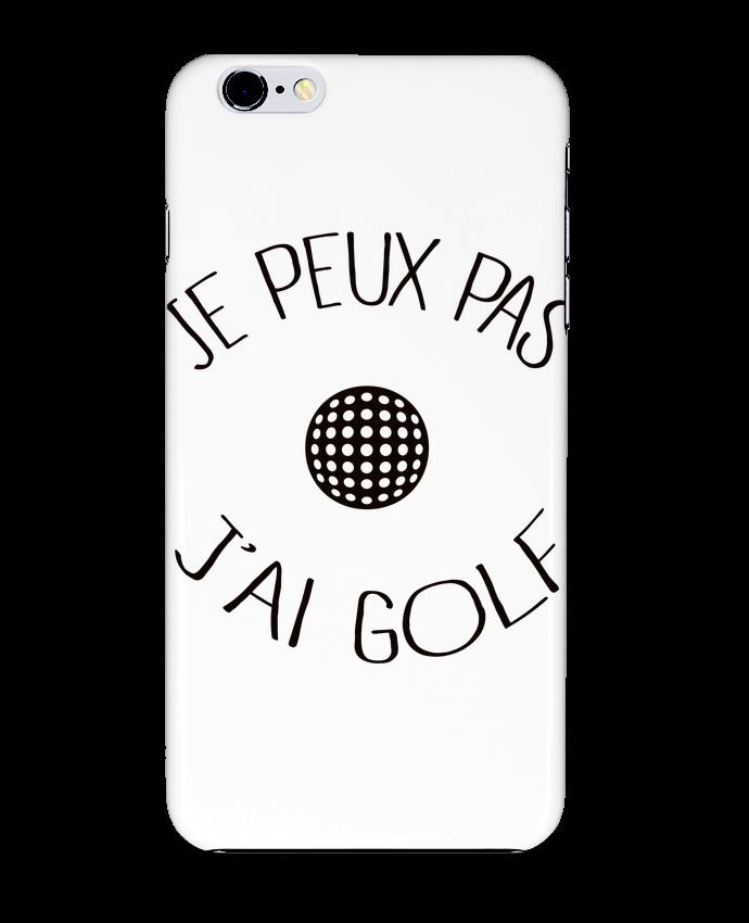 Coque 3D Iphone 6+ Je peux pas j'ai golf de Freeyourshirt.com