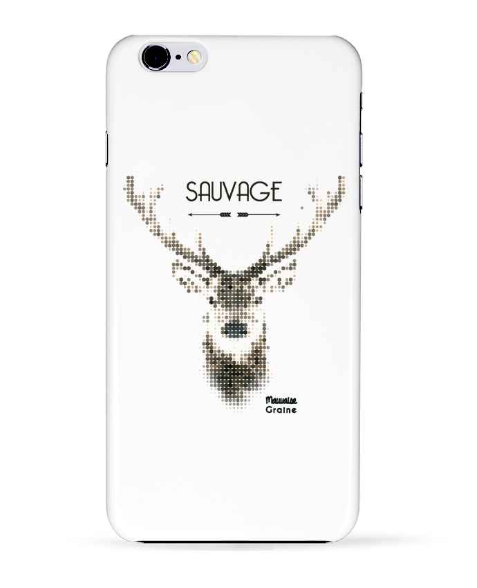 Coque 3D Iphone 6+ Tête de cerf sauvage de Mauvaise Graine