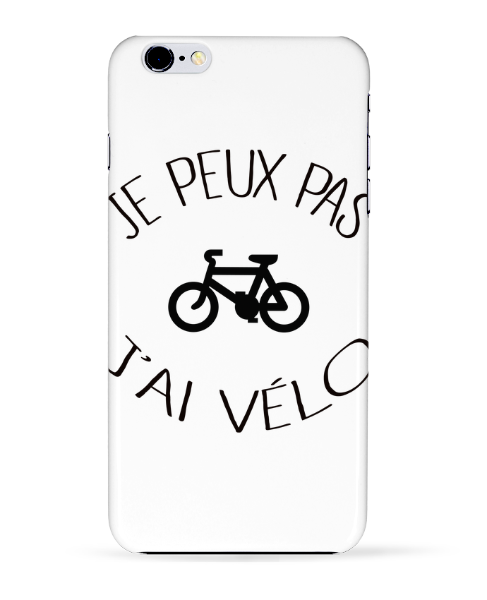 Coque 3D Iphone 6+ Je peux pas j'ai vélo de Freeyourshirt.com