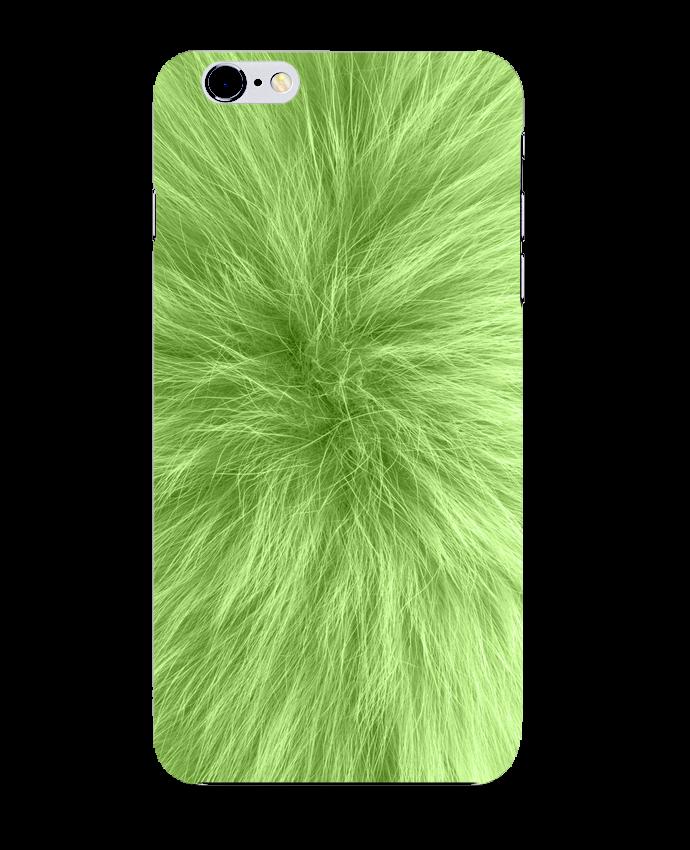 Coque 3D Iphone 6+ Fourrure vert pomme de Les Caprices de Filles