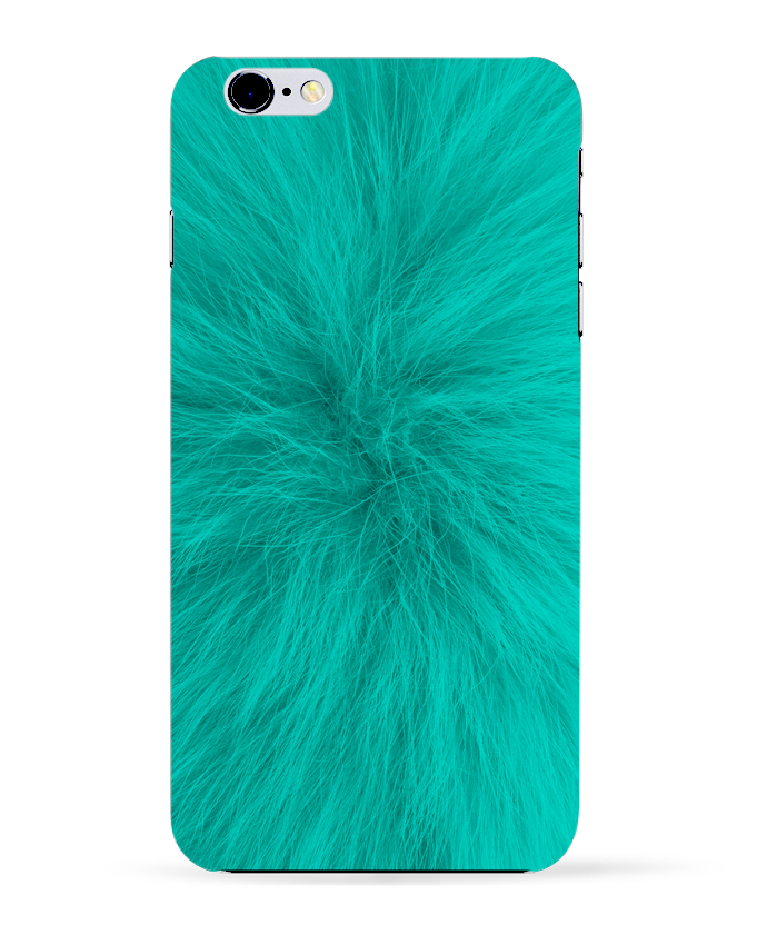 Coque 3D Iphone 6+ Fourrure bleu lagon de Les Caprices de Filles