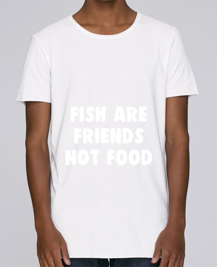 T-shirt Homme Oversized Stanley Skates Fish are firends not food par Bichette
