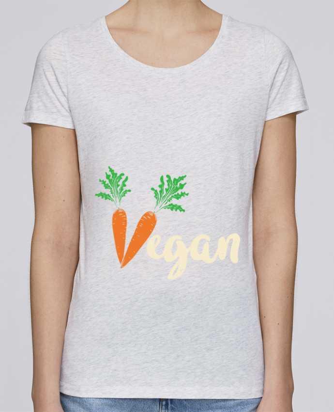 T-shirt Femme Stella Loves Vegan carrot par Bichette