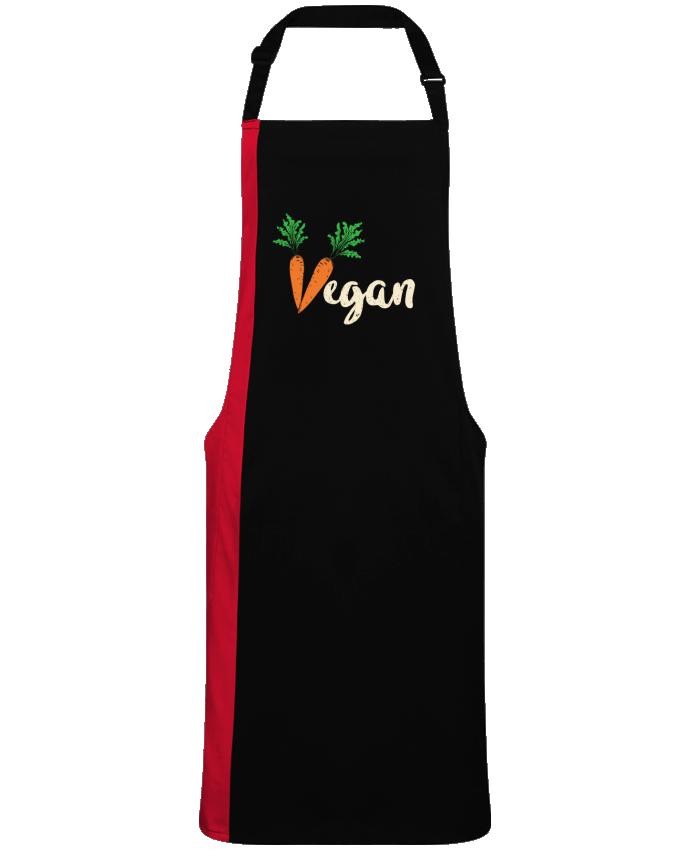 Tablier Long Bicolore Vegan carrot par  Bichette