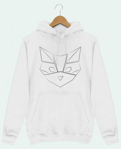 Sweat Shirt à Capuche Homme Logo chat par Claire