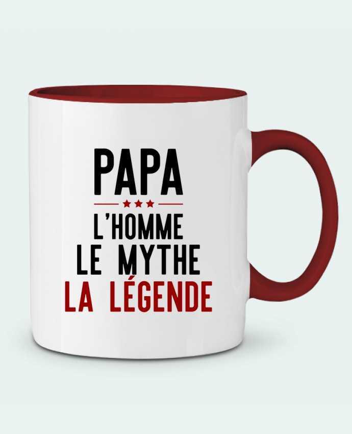 Mug en Céramique Bicolore Papa la légende cadeau Original t-shirt