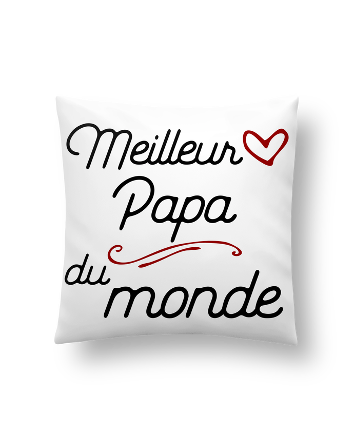 Coussin Synthétique Doux 41 x 41 cm Meilleur papa du monde par Original t-shirt
