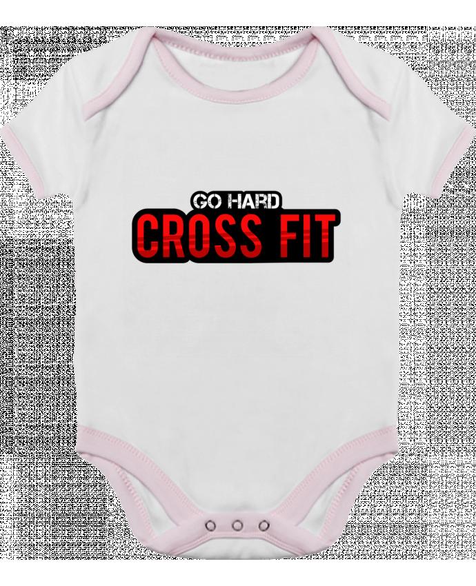 Body Bébé Contrasté Go Hard ! Crossfit par tunetoo