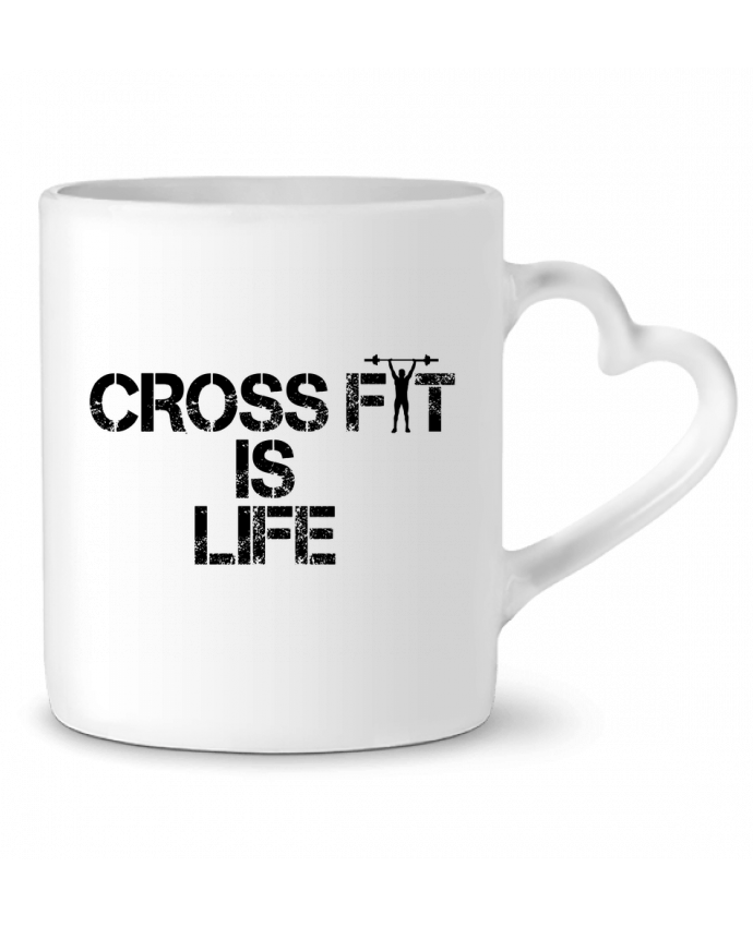 Mug Coeur Crossfit is life par tunetoo