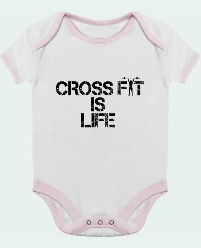 Body Bébé Contrasté Crossfit is life par tunetoo