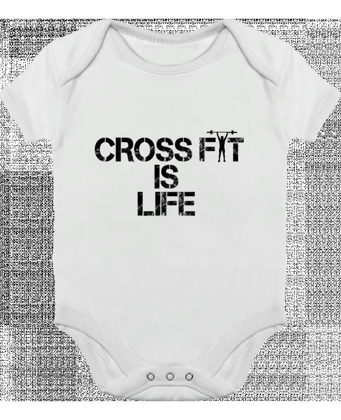 Body Bébé Contrasté Crossfit is life par tunetoo