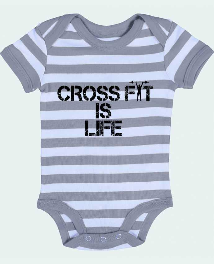 Body Bébé à Rayures Crossfit is life - tunetoo