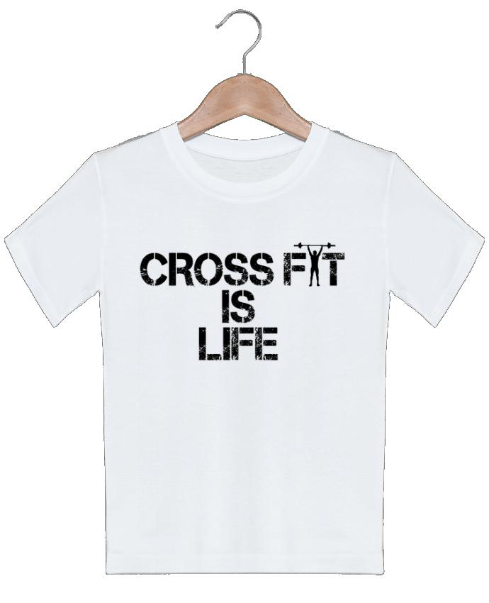 T-shirt garçon motif Crossfit is life tunetoo