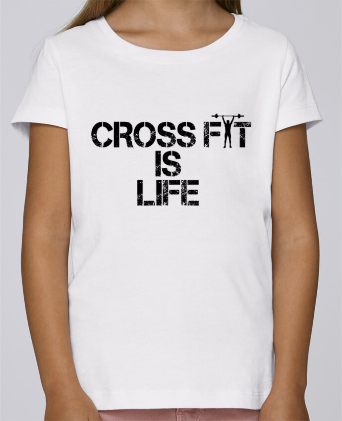 T-shirt Fille Mini Stella Draws Crossfit is life par tunetoo