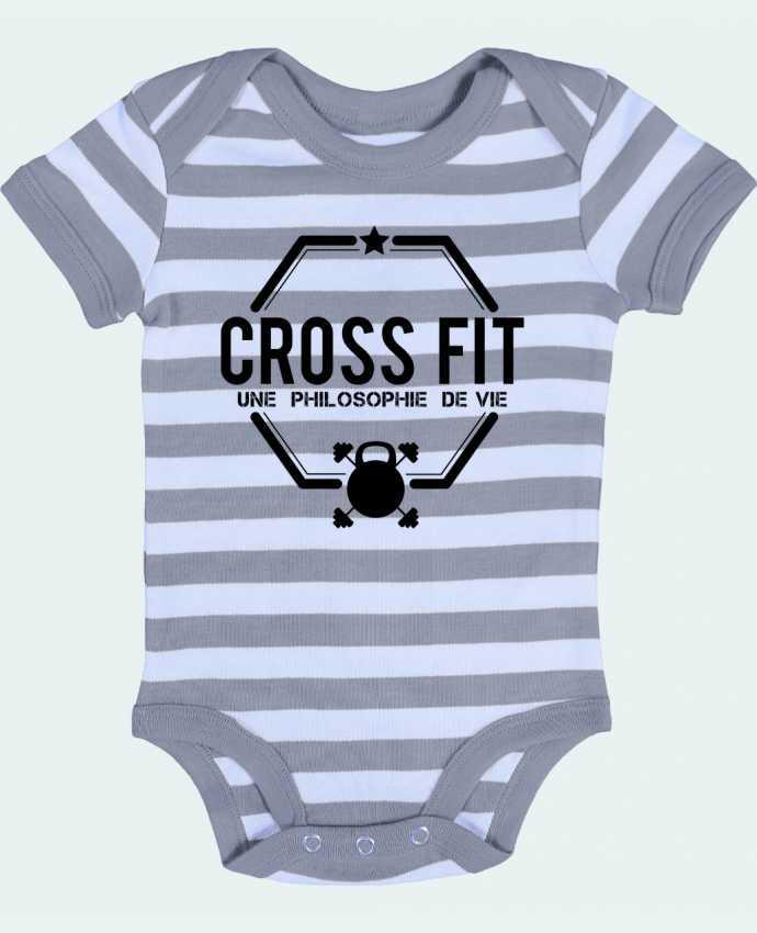 Body Bébé à Rayures Crossfit une philosophie de vie - tunetoo
