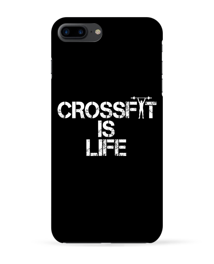 Coque 3D Iphone 7+ Crossfit is life par tunetoo