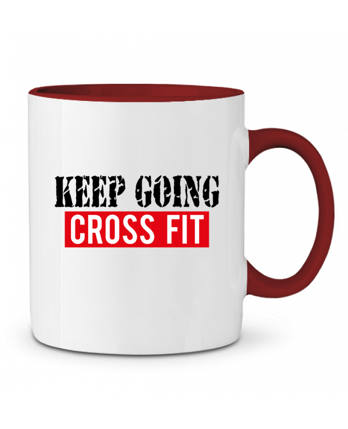 Mug en Céramique Bicolore Keep going ! Crossfit tunetoo