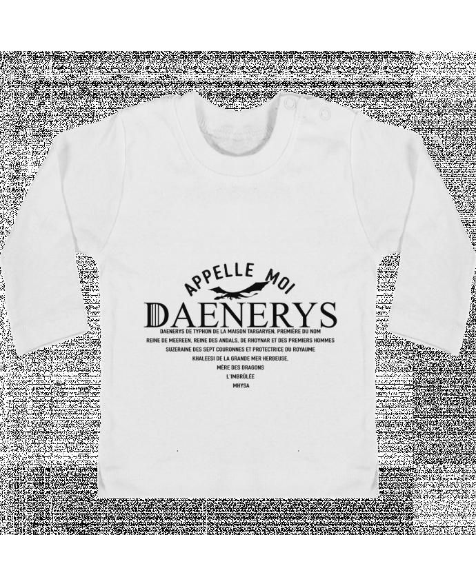 T-shirt Bébé Manches Longues Boutons Pression Appelle moi Daenerys manches longues du designer tunetoo