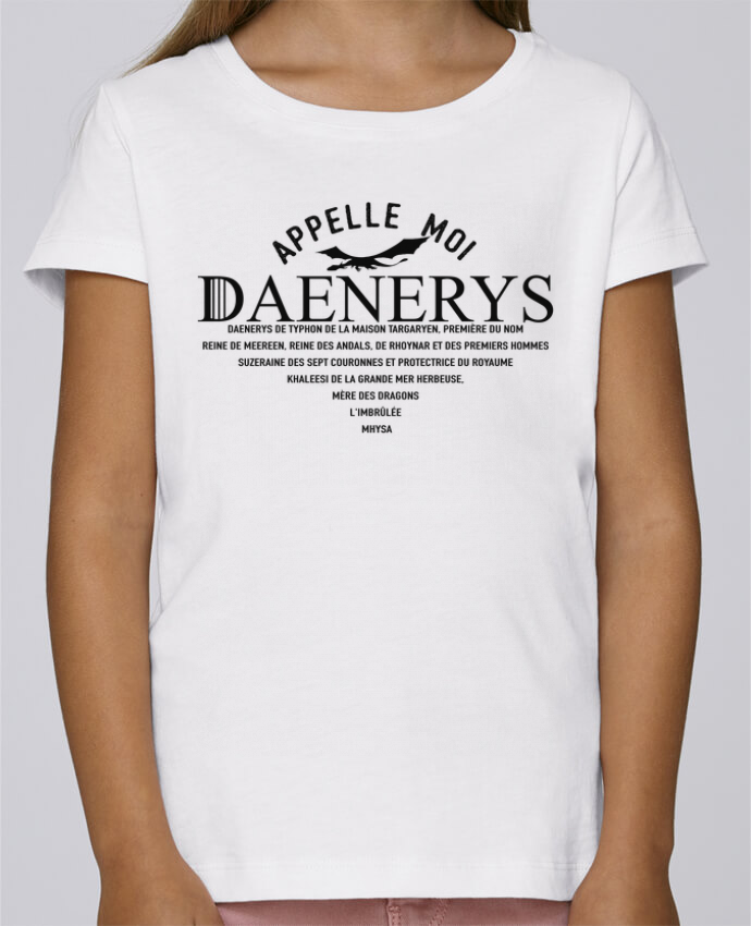 T-shirt Fille Mini Stella Draws Appelle moi Daenerys par tunetoo