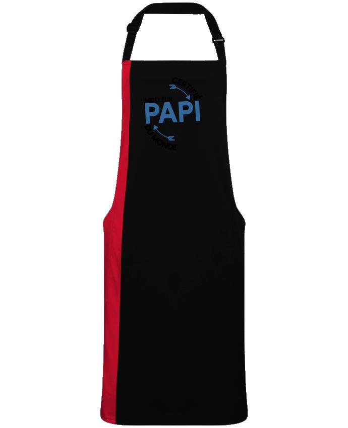 Tablier Long Bicolore Certifié meilleur papi cadeau par  Original t-shirt